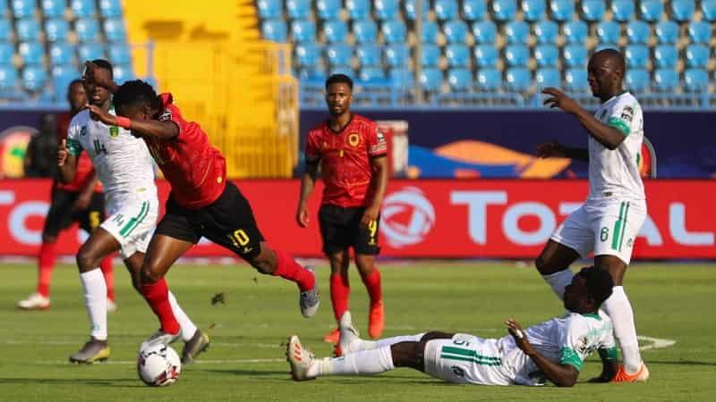 Jogo entre a selação angolana de futebol e a selação mauritância de futebol