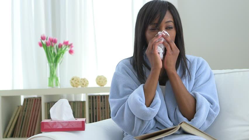 Pessoa com gripe