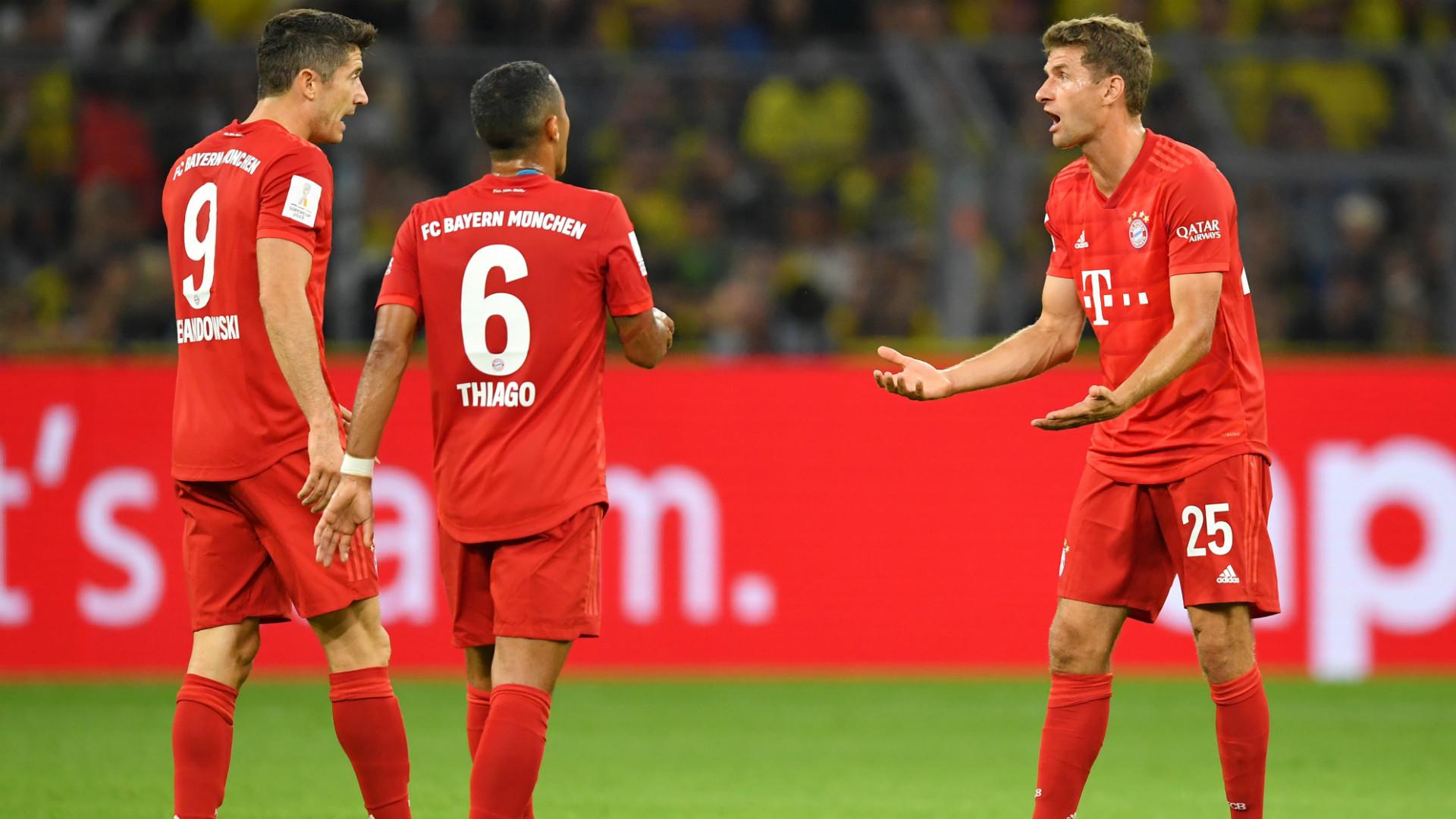 Lewandowski, Thiago e Thomas Muller